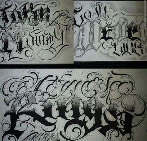tattoo letters latino style chicano lettering lettering pinterest chicano