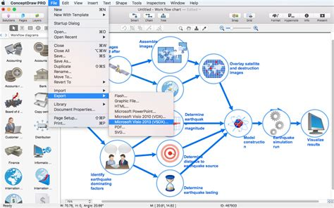 visio workflow exles create visio workflow diagram conceptdraw helpdesk