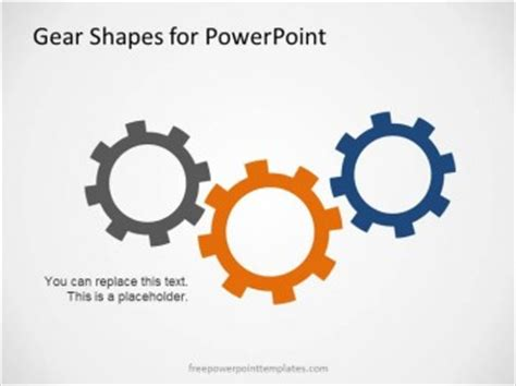 Free Gear Shapes Template For Powerpoint Gears Powerpoint Template