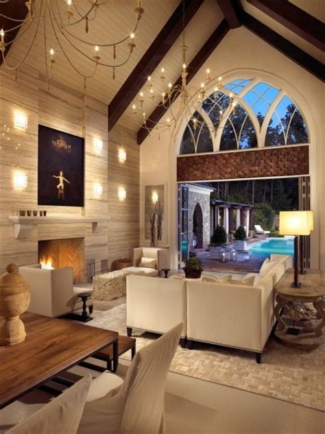 Cathedral Ceiling Living Room Living Room With Cathedral Ceilings