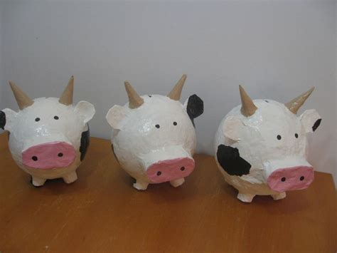 How To Make A Paper Mache Cow - 17 best images about de kakelende koeien on
