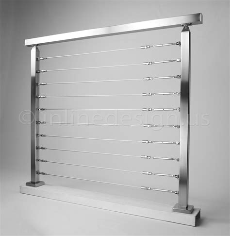 Wire Handrail Systems Miami Square Modern Stainless Steel Cable And Glass