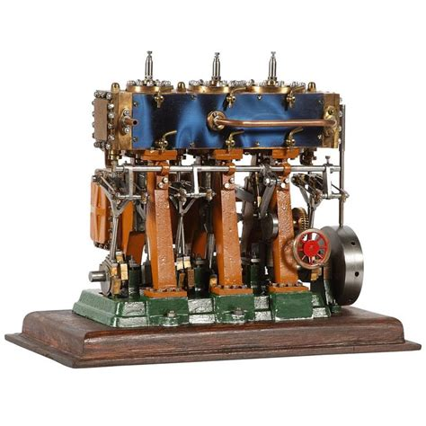 O. B. Bolton Triple Expansion Marine Steam Engine Model at