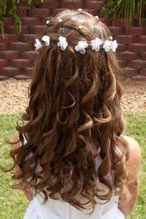 peinados de ninas para flower girls peinados para primera comunion pinterest