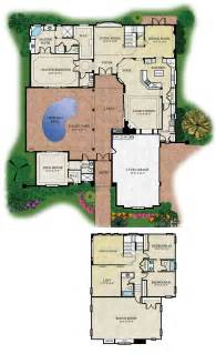 House Plans With Courtyard Pools by Courtyard Floorplans Floor Plans And Renderings 169 Abd