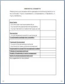 Exit Questionnaire Template by Every Bit Of Exit Questionnaire Form