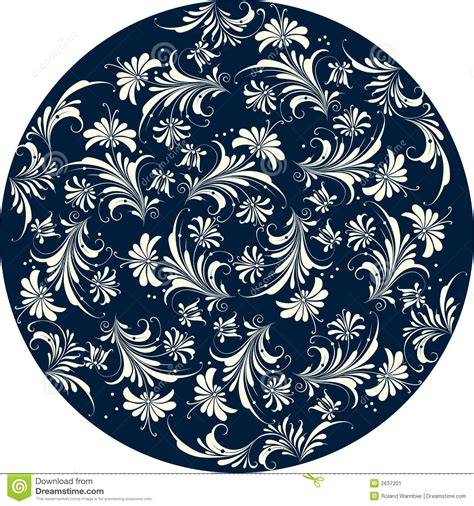 pattern in circle floral pattern circle stock vector image of flower