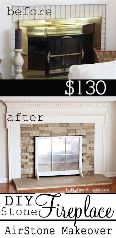 diy fireplace cover up airstone diy fireplace makeover