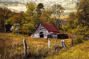 American Flag On Barn Wood Old Barn In Autumn Photograph By Debra And Dave Vanderlaan