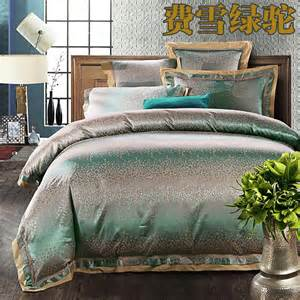 luxury jacquard silk quilt duvet comforter cover king