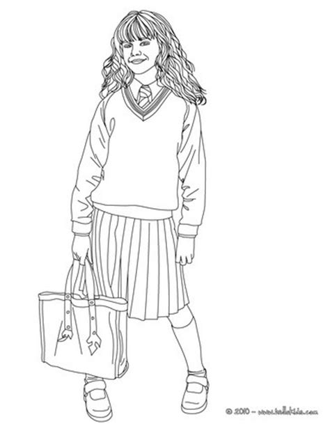 Emma Watson Vs Hermione Granger Coloring Pages Hellokids Com Hermione Coloring Pages