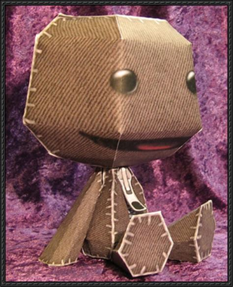 Sackboy Papercraft - new paper model littlebigplanet sackboy free paper