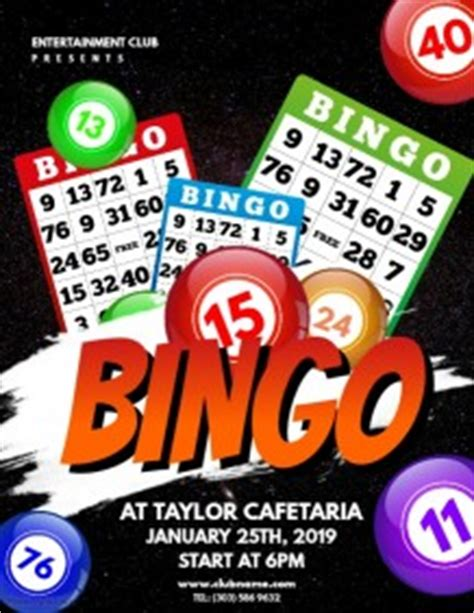 Customizable Design Templates For Bingo Event Flyer Postermywall Bingo Flyer Template Free
