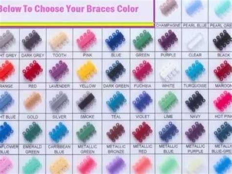 braces color picker braces color selector how to choose colors for your