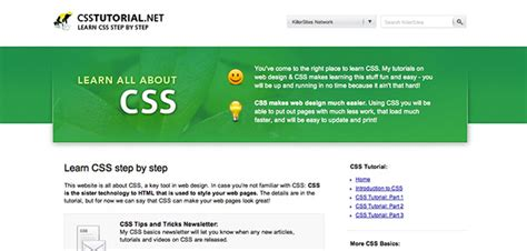 tutorial web design css web design tutorial websites