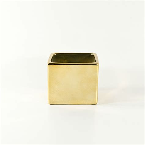 Ceramic Cube Vase by Gold And Silver Small Ceramic Cubes For Discount
