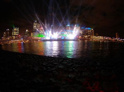 laser show laser brisbane city lights night public