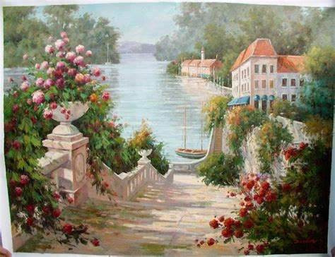 flower garden paintings paintings of flower gardens painting reproductions
