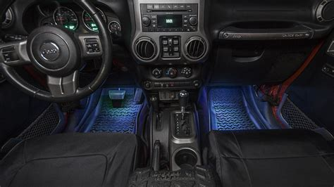 led lights for jeep wrangler interior rugged ridge interior courtesy lighting kit for 07 18 jeep