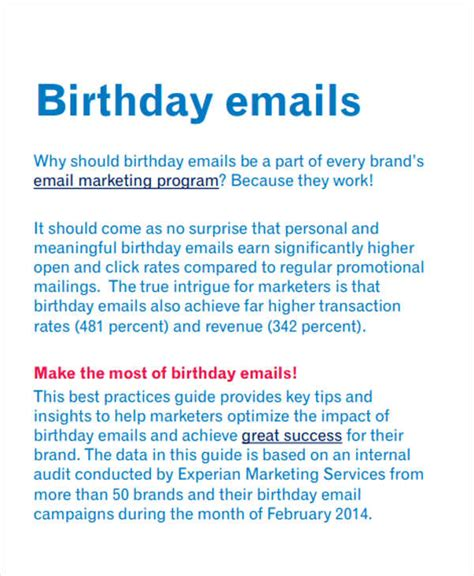 9 Official Email Templates Free Psd Eps Ai Format Download Free Premium Templates Corporate Birthday Email Template