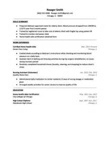 Health Aide Resume by Resume For Home Health Aide Sles Of Resumes
