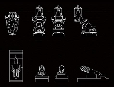 telescope    dwg plan  autocad designs cad