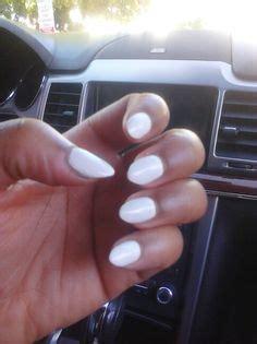 white almond shape acrylic nails nails nails tumblr