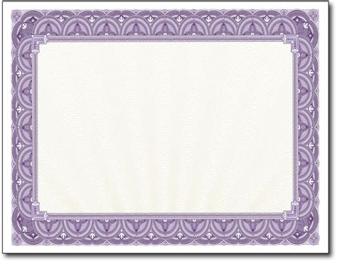 purple certificate template paper for certificates printable certificate paper