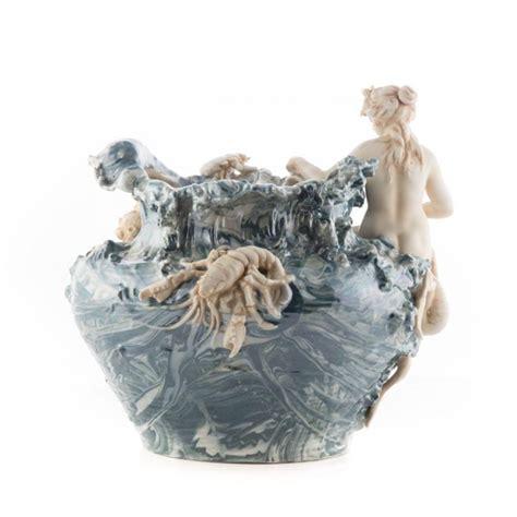Mermaid Vase by Royal Dux Nouveau Mermaid Vase