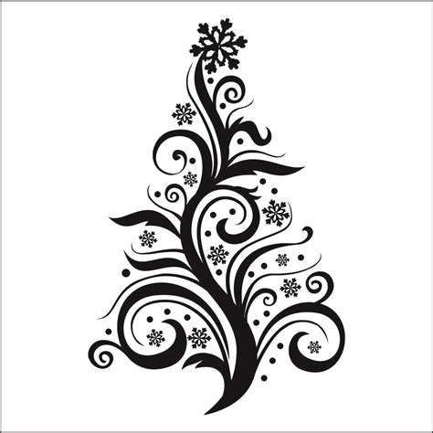 best photos of christmas tree designs drawing hand drawn