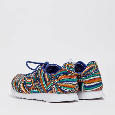 colorful shoes multicolor textile sneakers blue grey soletopia