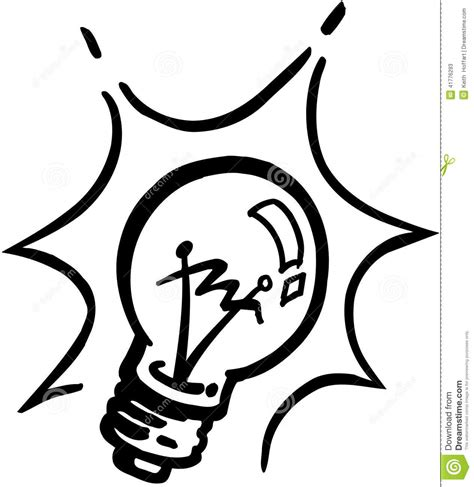 eps format adobe illustrator lightbulb cartoon vector clipart stock vector image