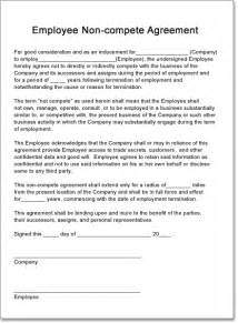 non competition clause template creating a non compete contract for your employees