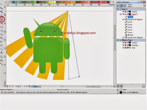 tutorial corel draw logo android tutorial corel draw membuat logo android rionaldojr 96 lt