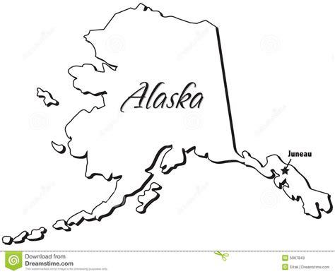 coloring page map of alaska alaska outline clipart