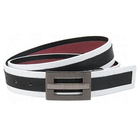 greg norman reversible multi colored leather belt