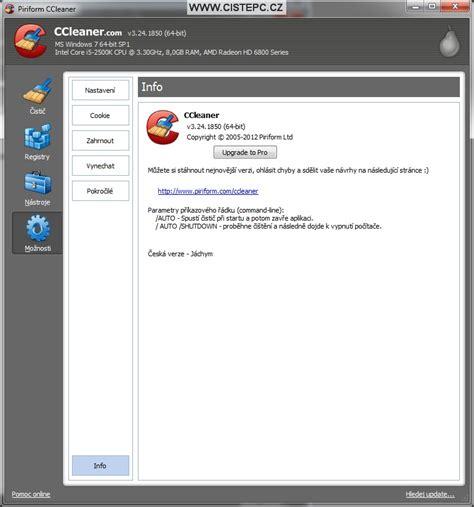 ccleaner zdarma ccleaner jak vyčistit poč 237 tač jednoduše čist 233 pc
