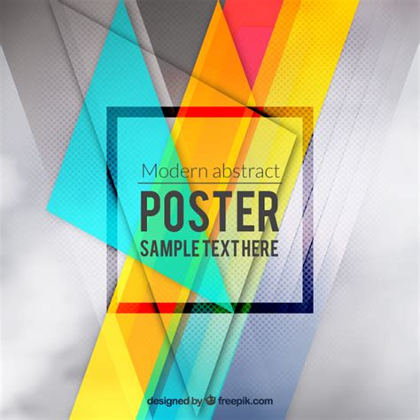 colorful posters colourful abstract poster vector free