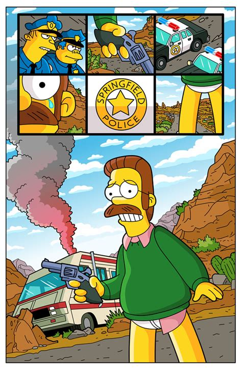 Breaking Ned breaking bad simpsons by paulwilliamsart on