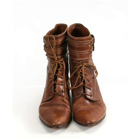joan and david boots vintage brown leather lace up joan and david boots with ankle