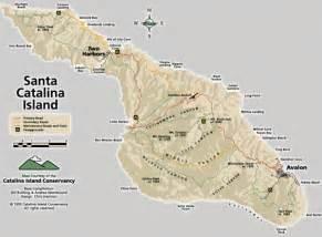 island california map santa island road and trail map santa