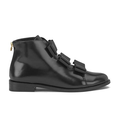 f troupe s bows leather ankle boots black free