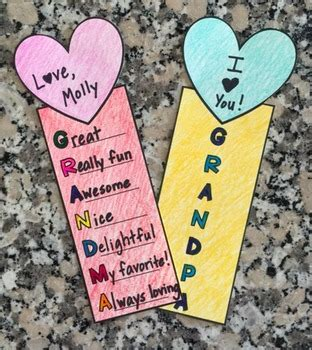 printable bookmarks for grandparents day grandparents day bookmarks acrostic poems by primarily