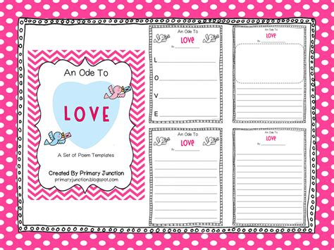 classroom freebies valentine s day poem templates