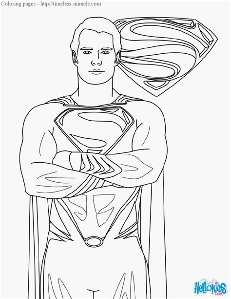 coloring pages of batman and superman superman coloring pages freecoloring4u com