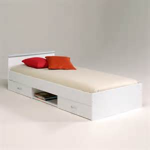 Modern White Single Bed Modern Single Bed With Storage For Saving Space