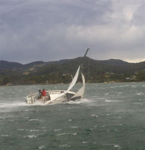 sailing boat knockdown what s wrong with the trim on this boat