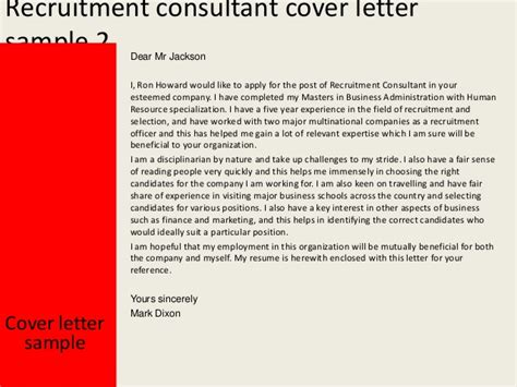recruitment consultant cover letter no experience recruitment consultant cover letter