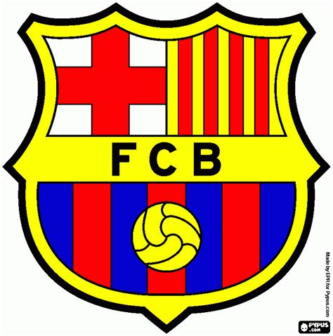barcelona colors free arsenal badge coloring pages