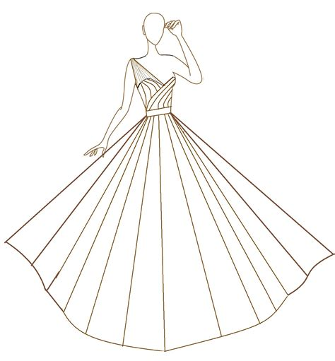 wedding dress template i drew this template at the request